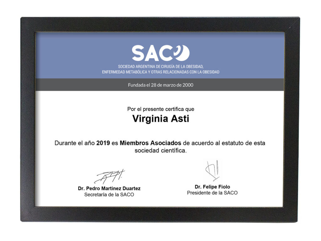 Todos nuestros profesionales miembros de IFSO y SACO | Austral Bariátrica